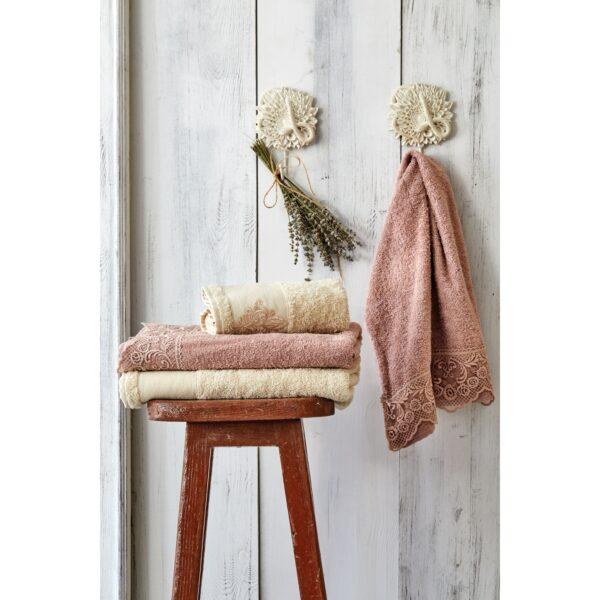 купить Набор полотенец Karaca Home - Valeria G.kurusu 2020-2 Розово-Золотой фото