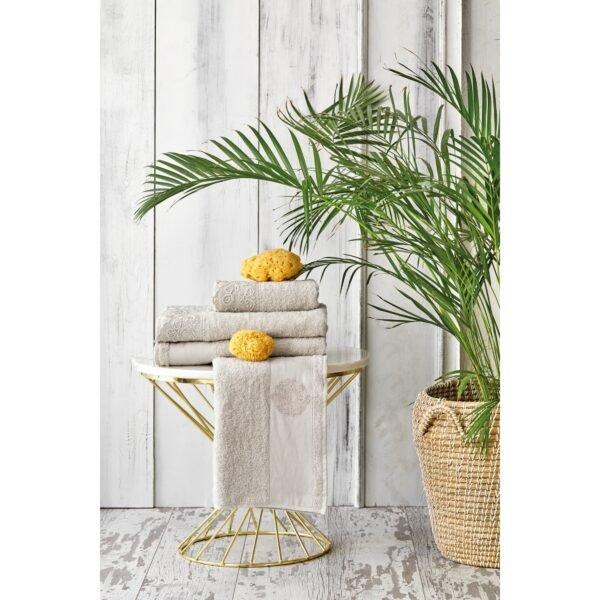 купить Набор полотенец Karaca Home - Valeria Rose-Gold 2020-2 Бежевый фото