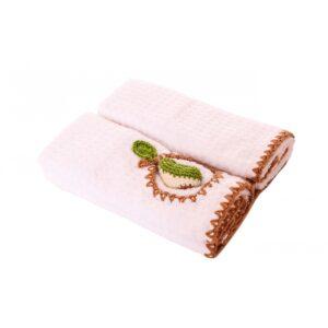 купить Набор полотенец TAC - Груша 3D Розовый фото