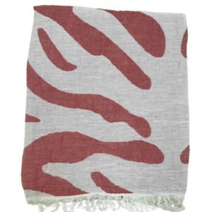 купить Пляжное полотенце Gold Soft Life pestemal Сафари 100*180 Красный_x000D_ Красный_x000D_ фото