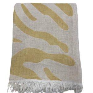 купить Пляжное полотенце Gold Soft Life pestemal Сафари 100*180 Оранжевый Оранжевый фото