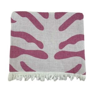 купить Пляжное полотенце Gold Soft Life pestemal Сафари 100*180 Розовый Розовый фото