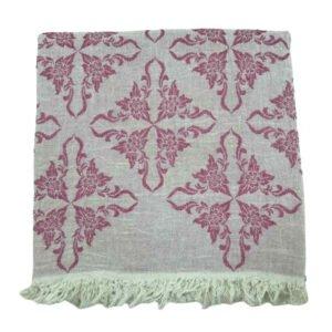 купить Пляжное полотенце Gold Soft Life pestemal Flower 100*180 Розовый Розовый фото