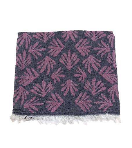 купить Пляжное полотенце Gold Soft Life pestemal Leaf 100*180 pink Розовый фото