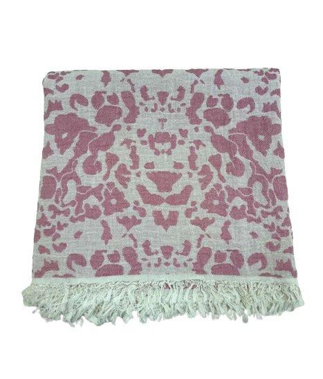 купить Пляжное полотенце Gold Soft Life pestemal Milos 100*180 Розовый Розовый фото