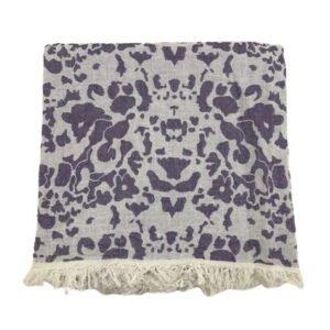 купить Пляжное полотенце Gold Soft Life pestemal Milos 100*180 Фиолетовый Фиолетовый фото
