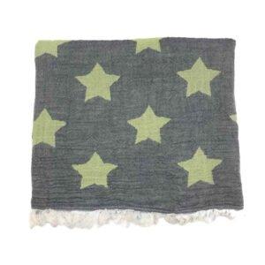 купить Пляжное полотенце Gold Soft Life pestemal Star 100*180 Зеленый Зеленый фото