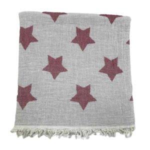 купить Пляжное полотенце Gold Soft Life pestemal Star 100*180 Красный_x000D_ Красный_x000D_ фото