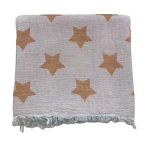 купить Пляжное полотенце Gold Soft Life pestemal Star 100*180 Оранжевый Оранжевый фото