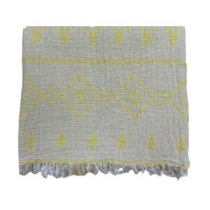 купить Пляжное полотенце Gold Soft Life pestemal Sun 100*180 Желтый фото