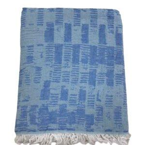 купить Пляжное полотенце Gold Soft Life pestemal Virtu 100*180 Голубой Голубой фото