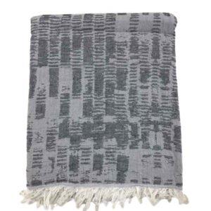 купить Пляжное полотенце Gold Soft Life pestemal Virtu 100*180 Серый Серый фото