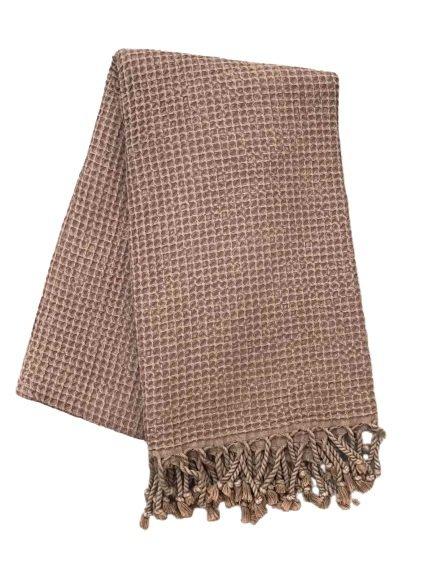 купить Пляжное полотенце Vende Pastemal вафельный Soft Life 100*180 Бордовый Бордовый фото
