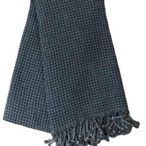 купить Пляжное полотенце Vende Pastemal вафельный Soft Life 100*180 джинс Черный Черный фото