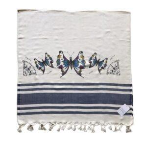 купить Пляжное полотенце Zugo Home Бабочки 80*170 Синий фото