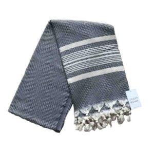 купить Пляжное полотенце Zugo Home Ilgin Lux 100*180 Черный Черный фото