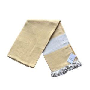 купить Пляжное полотенце Zugo Home Pestemal Elmas 100*180 Желтый Желтый фото