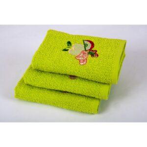 купить Полотенце кухонное Lotus вышивка - Fruit Зелёный фото