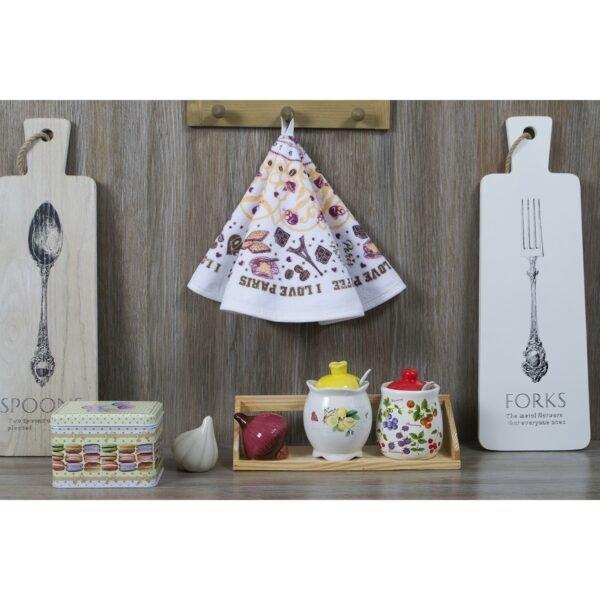 купить Полотенце кухонное Lotus Daily - I Love Coffee Белый фото