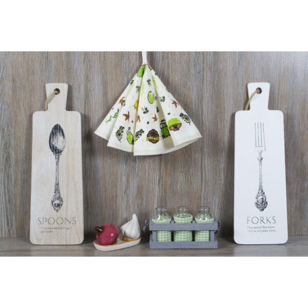 купить Полотенце кухонное Lotus Daily - Olive Кремовый фото