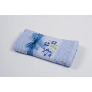 купить Полотенце кухонное Lotus Life - голубой Голубой фото
