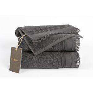 купить Полотенце махровое Buldans - Almeria antrasit Серый фото