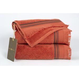 купить Полотенце махровое Buldans - Almeria brick Красный фото