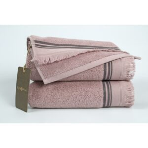 купить Полотенце махровое Buldans - Almeria dusty rose Розовый фото