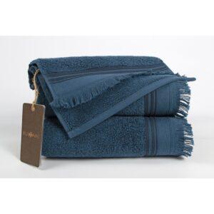 купить Полотенце махровое Buldans - Almeria indigo синий Синий фото