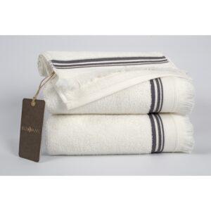 купить Полотенце махровое Buldans - Almeria off white Белый фото