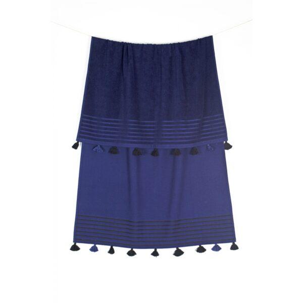 купить Полотенце махровое Buldans - Capri lacivert Синий фото