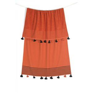 купить Полотенце махровое Buldans - Capri tobacco orange Оранжевый фото