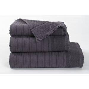 купить Полотенце махровое Buldans - Simba antracite Серый фото