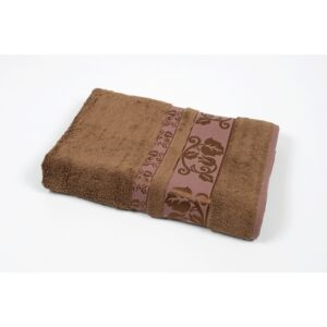 купить Полотенце махровое Cestepe - Delux Flover коричневый Коричневый фото
