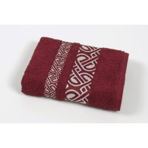 купить Полотенце махровое Cestepe - Vakko cotton бордовый Бордовый фото