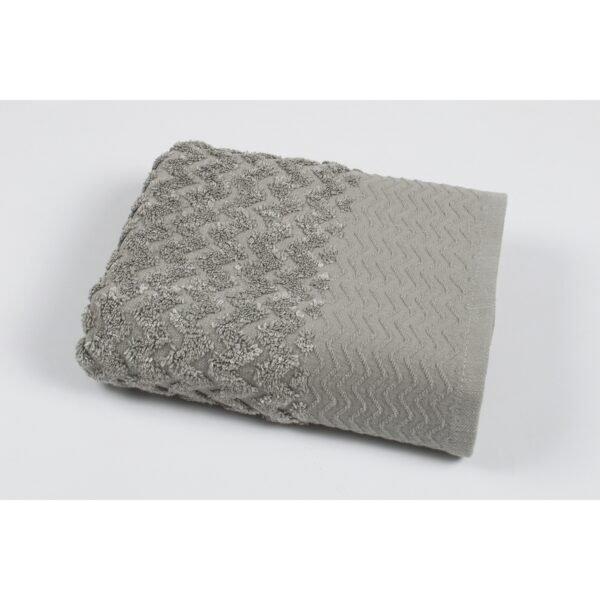 купить Полотенце махровое Pupila - Crooked gri Серый фото