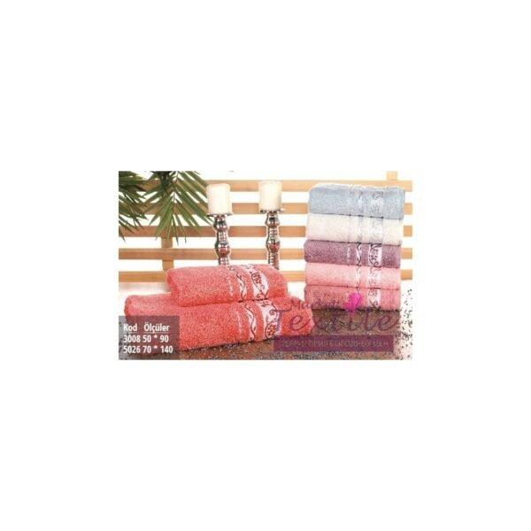 купить Полотенце махровое Pupilla Vip Bamboo - Lady/Fresh красный Красный фото