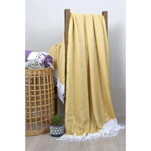 купить Полотенце пляжное Buldans - Mercan sari Желтый фото