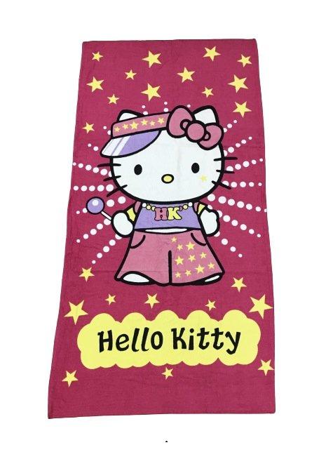 купить Полотенце пляжное Vende велюр Hello Kitty 75*150 Розовый фото