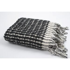 купить Полотенце Barine - Curly Bath Towel ecru-black серый Серый фото