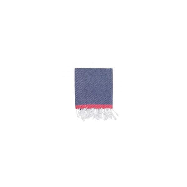 купить Полотенце Barine Pestemal - Basak Navy-Red Синий фото