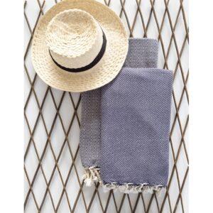 купить Полотенце Barine Pestemal - Bias Синий фото