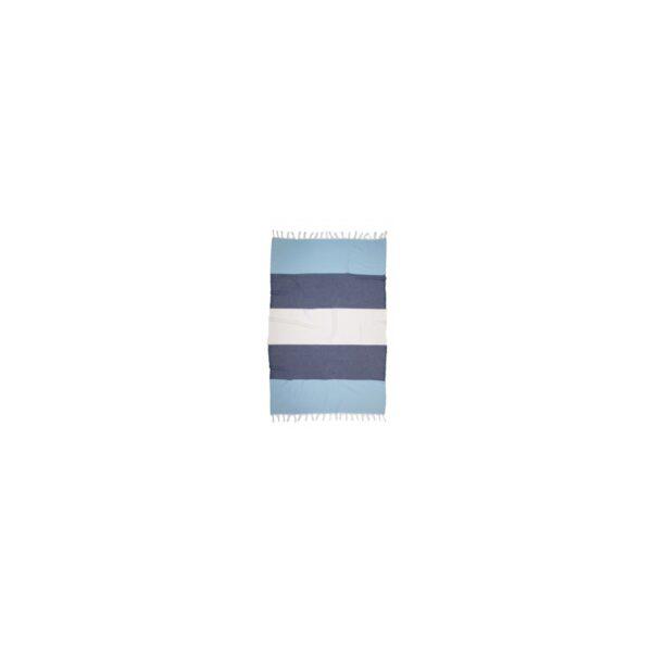 купить Полотенце Barine Pestemal - Block Blue-indigo-white Синий фото