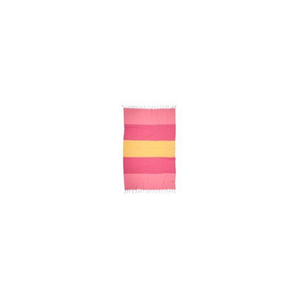 купить Полотенце Barine Pestemal - Block Flamingo-raspberry-sunset Розовый фото