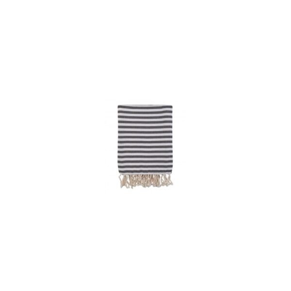 купить Полотенце Barine Pestemal - Herringbone Black Серый фото