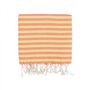 купить Полотенце Barine Pestemal - Herringbone Papaya Sunset Красный фото