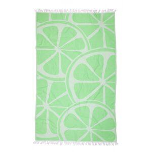 купить Полотенце Barine Pestemal - Lemon Green Зелёный фото