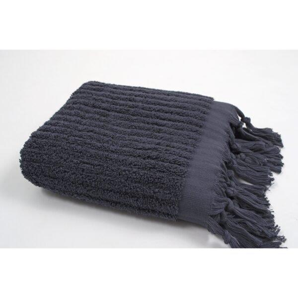 купить Полотенце Barine - Rib indigo серый Серый фото