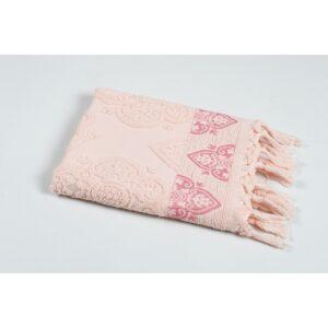 купить Полотенце Oliva Home Jacquard - Damask pembe Розовый фото