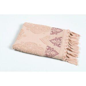 купить Полотенце Oliva Home Jacquard - Damask pudra Розовый фото